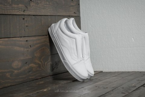 Vans Old Skool Laceless (Leather) True White