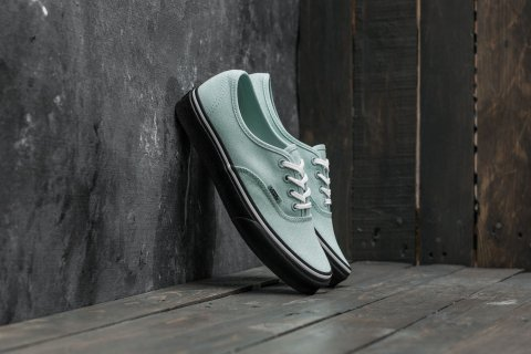 Vans Authentic (Black Outsole) Harbor Grey/ True White