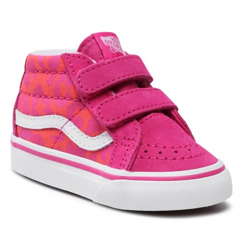 Sneakersy VANS - Sk-8-Mid Reissue V VN0A5DXD34L1 (Neon Animal)Leopard/Pink (21)