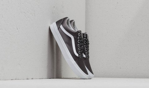 Vans Old Skool (Satin Lux) Gray/ True White