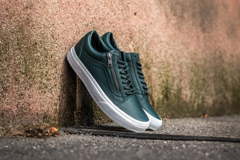 Vans Old Skool Zip Antique Silver Green Gables